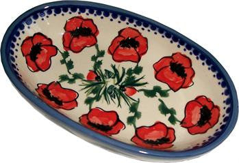 Small Oval Baking DishPoppy Field