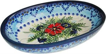Polish Pottery Small Oval Baking DishVeronica