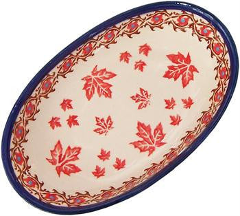Polish Pottery Small Oval BakerAutumn