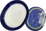 "Boleslawiec Polish Pottery UNIKAT Oval Baker with Cover ""Alex"""