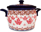 "Boleslawiec Polish Pottery UNIKAT Baker Bean Pot ""Autumn"""