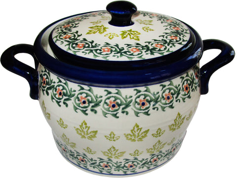 Boleslawiec Polish Pottery UNIKAT Baker Bean Pot Tureen