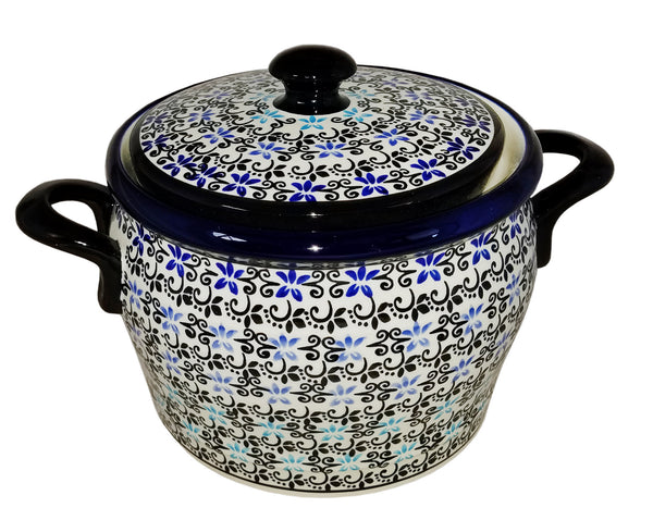 "Boleslawiec Polish Pottery UNIKAT Bean Pot ""Martina"""
