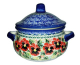"Boleslawiec Polish Pottery Stoneware UNIKAT Container or Baker ""Summer Day"""