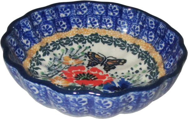 Boleslawiec Polish Pottery UNIKAT Scalloped Bowl Unikat 3093