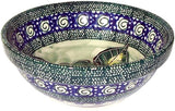 "Boleslawiec Polish Pottery  Unikat Ice Cream or Condiment Bowl Small ""Green Garden"""