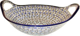 "Boleslawiec Polish Pottery UNIKAT Small Bowl with Handles ""Martina"""