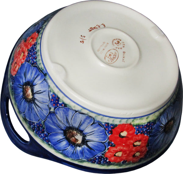Boleslawiec Polish Pottery Unikat Large Serving Bowl With
