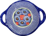 "Boleslawiec Polish Pottery UNIKAT Large Serving Bowl with Handles ""Isabelle"""