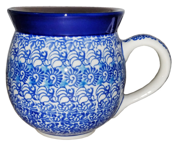 Boleslawiec Polish Pottery 10 oz Coffee or Tea Bubble Mug 1488