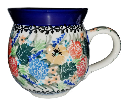 Boleslawiec Polish Pottery 10 oz Coffee or Tea Bubble Mug 2877