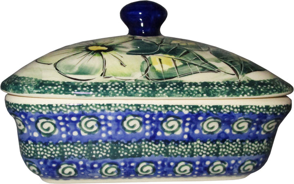 Boleslawiec Polish Pottery Unikat Butter Dish Serving Or