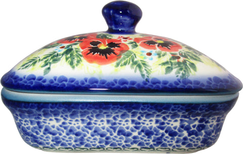 Boleslawiec Polish Pottery UNIKAT Butter Dish, Serving or Storage Box