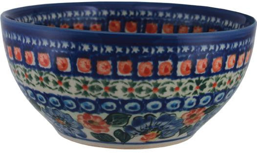 "Boleslawiec Polish Pottery UNIKAT Pasta or Soup Serving Bowl ""Patricia"""