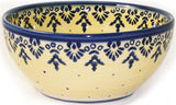 "Boleslawiec Polish Pottery UNIKAT Cereal or Chili Serving Bowl ""Lace"""