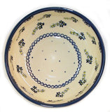 "Boleslawiec Polish Pottery UNIKAT Cereal or Chili Serving Bowl ""Forget Me Not"""