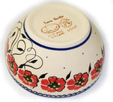 "Boleslawiec Polish Pottery UNIKAT Cereal or Chili Serving Bowl ""Jazzy"""