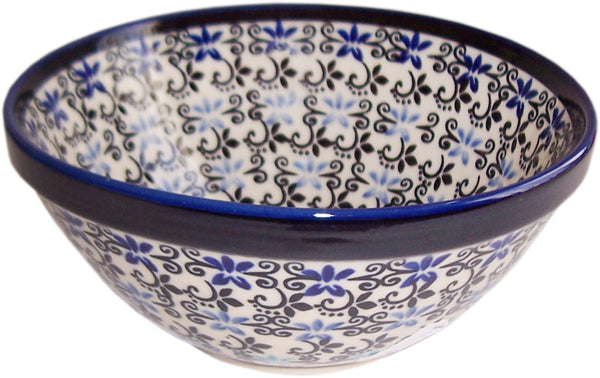 "Boleslawiec Polish Pottery UNIKAT Pasta,Soup, Serving or Mixing Bowl ""Martina"""