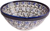 "Boleslawiec Polish Pottery UNIKAT Cereal or Chili Serving Bowl ""Martina"""