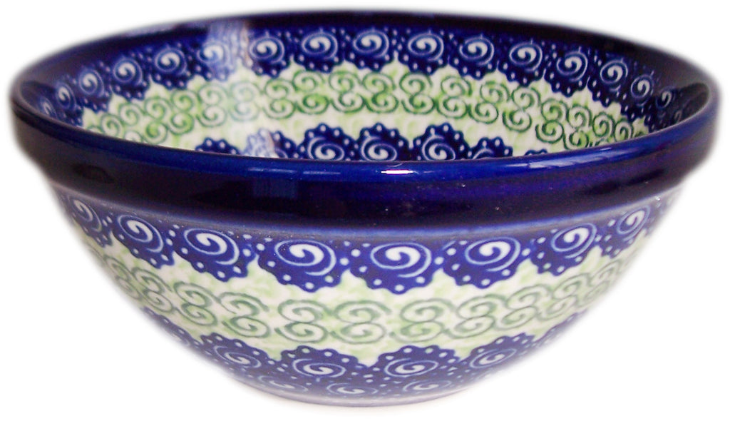 "Boleslawiec Polish Pottery UNIKAT Pasta or Soup Serving Bowl ""Alex"""