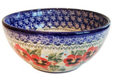 "Boleslawiec Polish Pottery UNIKAT Cereal bowl Chili Bowl ""Summer Day"""