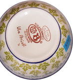 "Boleslawiec Polish Pottery UNIKAT Cereal or Chili Serving Bowl ""Vermont"""
