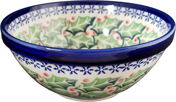 "Boleslawiec Polish Pottery Cereal or Chili Serving Bowl ""Holly"""