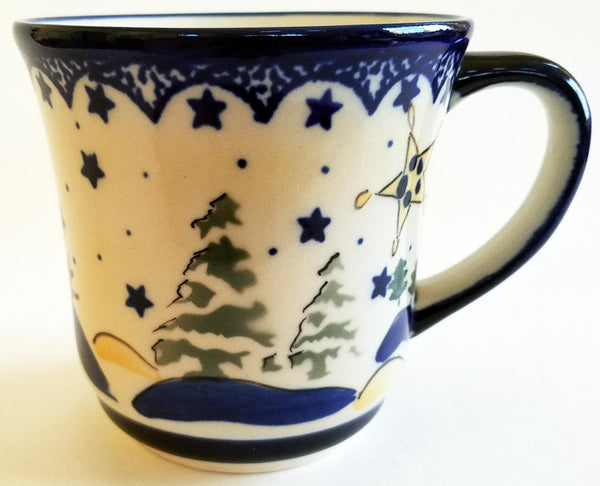 "Boleslawiec Polish Pottery Coffee or Tea Mug ""Silent Night"""