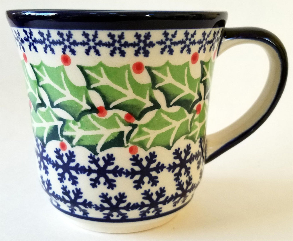 "Boleslawiec Polish Pottery UNIKAT Coffee or Tea Mug ""Holly"""