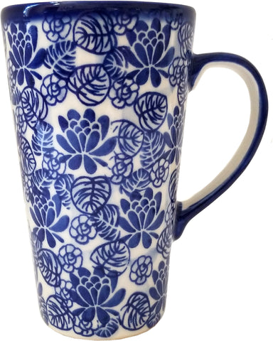 Boleslawiec Polish Pottery Bistro mug 16 oz, Unikat Eva's Collection