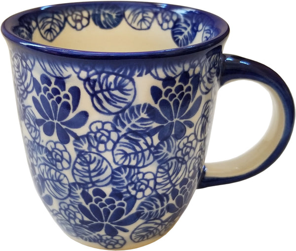 "Boleslawiec Polish Pottery Coffee or Tea Mug Unikat Eva's Collection ""Madeline"""
