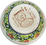 "Boleslawiec Polish Pottery UNIKAT Ice Cream or Condiment Bowl ""Spring"""