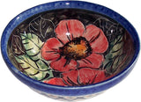"Boleslawiec Polish Pottery UNIKAT Ice Cream or Condiment Bowl ""Red Garden"""