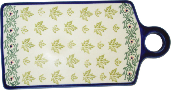 "Boleslawiec Polish Pottery UNIKAT Cutting Board ""Vermont"""