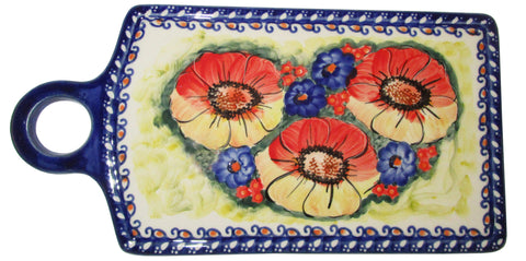 Boleslawiec Polish Pottery UNIKAT Cutting or Cheese Board Trivet