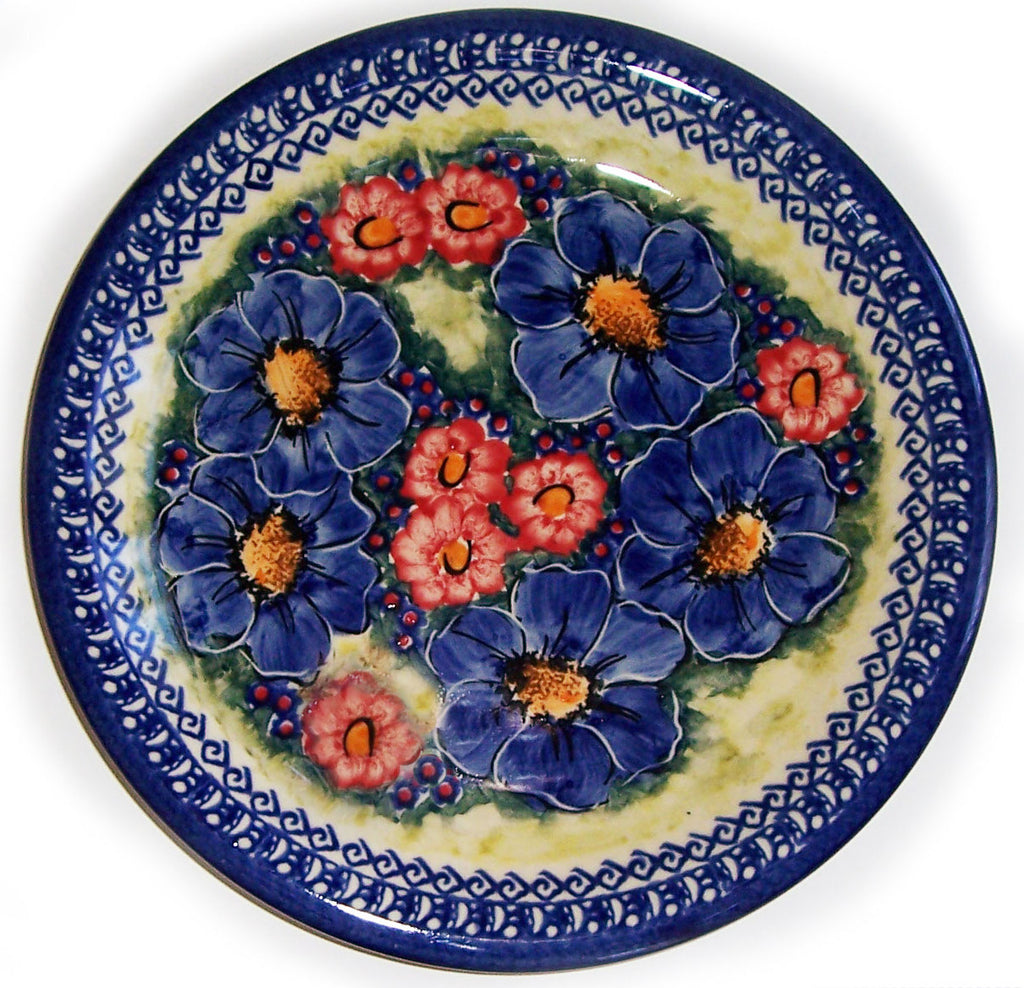 "Boleslawiec Polish Pottery UNIKAT 10.5"" Dinner Serving Plate ""Isabelle"""