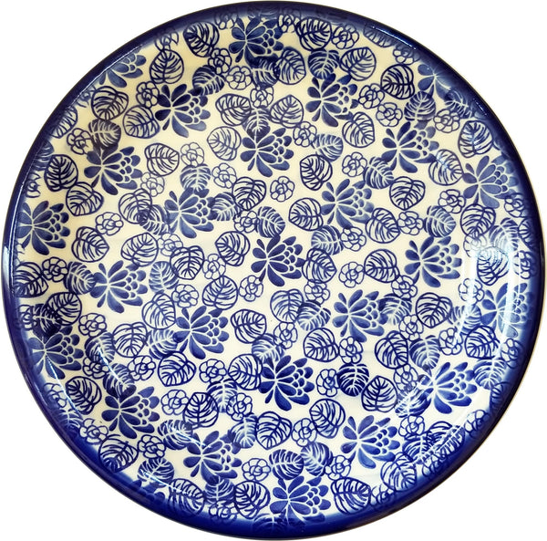 "Boleslawiec Polish Pottery 10"" Dinner Plate Unikat ""Madeline"" by Eva's Collection"