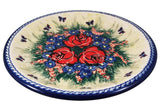"Boleslawiec Polish Pottery UNIKAT Dinner Serving Plate ""Wild Roses"""