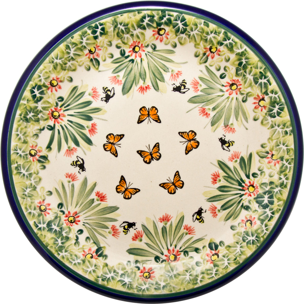 "Boleslawiec Polish Pottery UNIKAT Dinner Serving Plate ""Spring"""