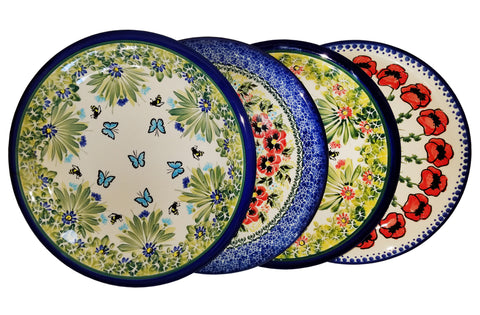 Boleslawiec Polish Pottery UNIKAT 4 Pcs Dinner Plates Set