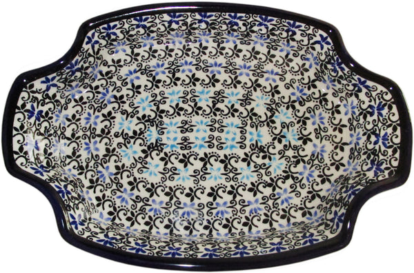 "Boleslawiec Polish Pottery UNIKAT Fancy Serving Platter ""Martina"""