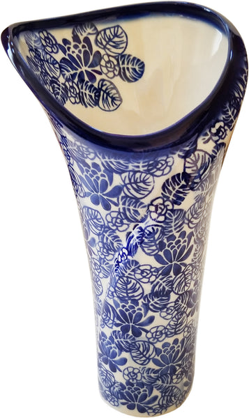 "Boleslawiec Polish Pottery UNIKAT Flower Vase ""Madeline"" from Eva's Collection"