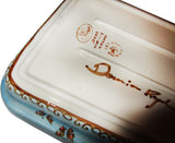 "Boleslawiec Polish Pottery UNIKAT Medium Rectangular Lasagna Baker ""Blue Sky Meadow"""""