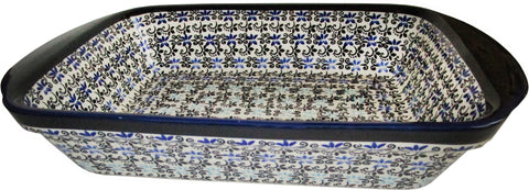 Boleslawiec Polish Pottery UNIKAT Lasagna Rectangular Baker or Serving Dish