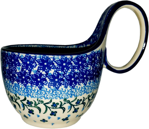 Boleslawiec Polish Pottery Bowl with Loop Handle CA 1881