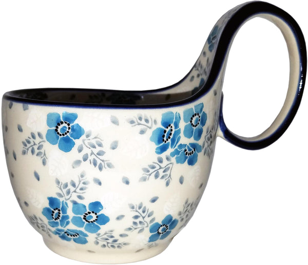 Boleslawiec Polish Pottery Bowl with Loop Handle CA 2495