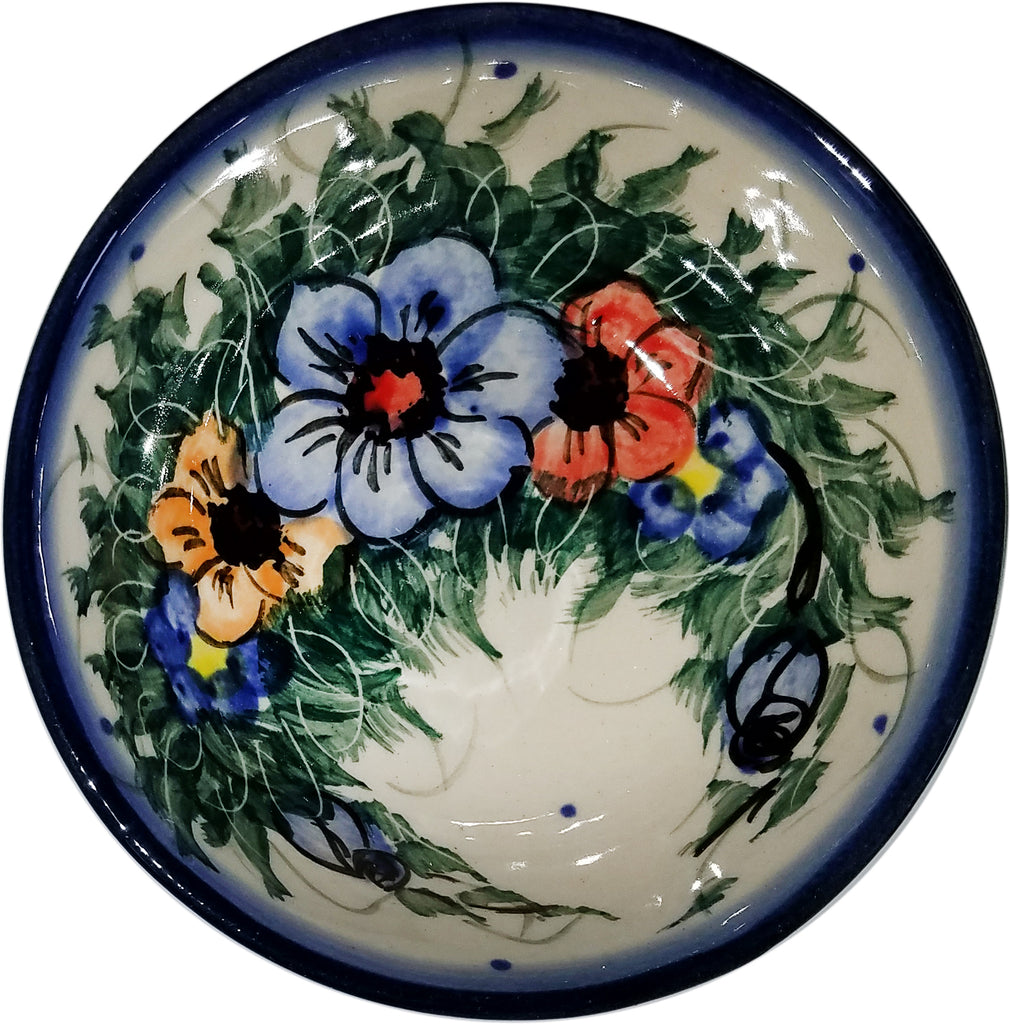 "Boleslawiec Polish Pottery UNIKAT Mini Bowl ""Wild Field"""