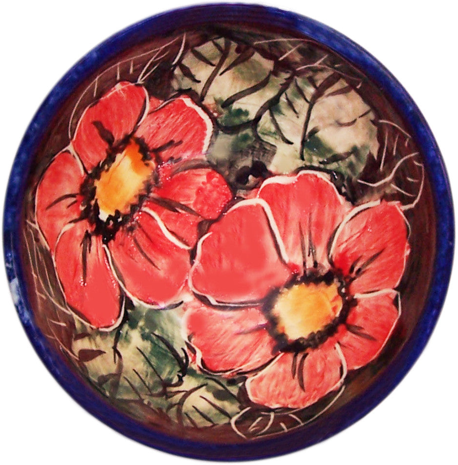 "Boleslawiec Polish Pottery UNIKAT Mini Bowl ""Red Garden"""