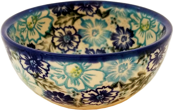 "Boleslawiec Polish Pottery UNIKAT 4"" Small Bowl ""April"""
