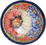 "Boleslawiec Polish Pottery UNIKAT Ice Cream or Condiment Bowl ""Flower Field"""